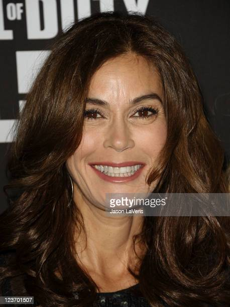 Actress Teri Hatcher attends the Call of Duty Modern Warfare 3 launch party at The Stages at Playa Vista on September 3 2011 in Playa del Rey...
