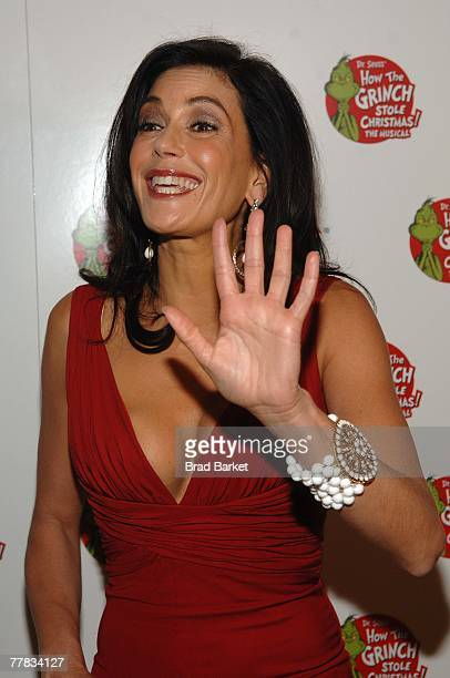 Actress Teri Hatcher attends the opening night of 'Dr Seuss How The Grinch Stole Christmas' at the The St James Theater on November 9 2007 in New...