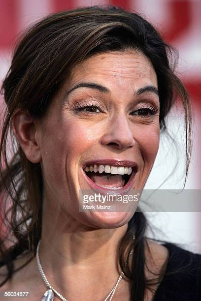 """Actress Teri Hatcher attends the premiere for the Disney Animated Feature """"Chicken Little"""" at the El Capitan Theatre October 30, 2005 in Los Angeles,..."""