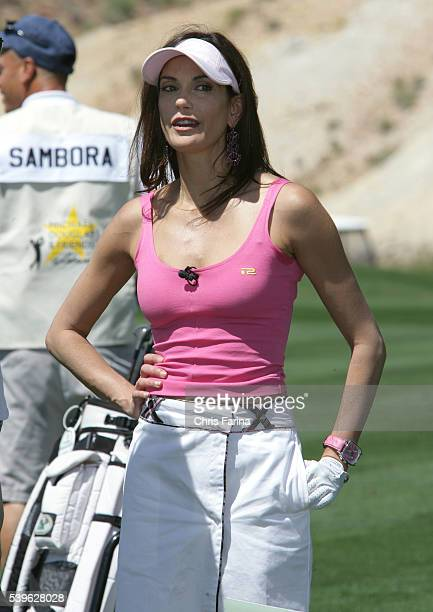 Actress Teri Hatcher of Desperate Housewives at the Seventh Annual Michael Douglas Friends Celebrity Golf event held at the Cascata golf course