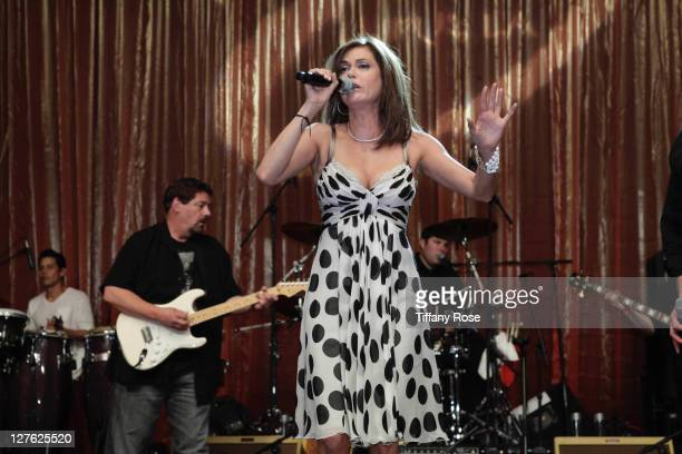 Actress Teri Hatcher performs at the 11th Annual Lupus Los Angeles Orange Bowl at the Beverly Wilshire Four Seasons Hotel on May 12 2011 in Beverly...
