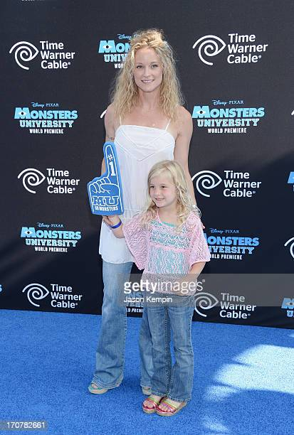 Actress Teri Polo and daughter Bayley Wollam attend the premiere of Disney Pixar's Monsters University at the El Capitan Theatre on June 17 2013 in...