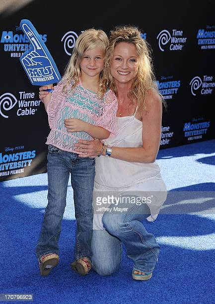 Actress Teri Polo and daughter Bayley Wollam attend the world premiere of 'Monsters University' at the El Capitan Theatre on June 17 2013 in...