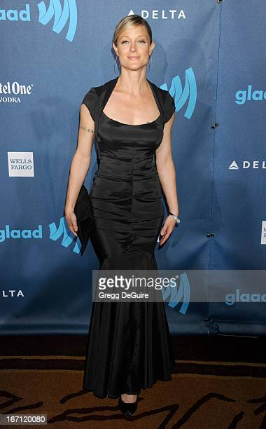 Actress Teri Polo arrives at the 24th Annual GLAAD Media Awards at JW Marriott Los Angeles at LA LIVE on April 20 2013 in Los Angeles California