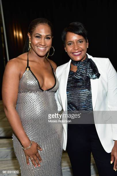 Actress Terri J Vaughn and Atlanta Mayor Keisha Lance Bottoms attend Vision Community Foundation 7th Annual Vision Community Foundation BlackTie Gala...