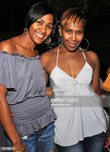 Actress Terri J Vaughn and her mother Helen Vaughn attend Teri J Vaughn's birthday party at a Private Residence on August 29 2009 in Atlanta Georgia