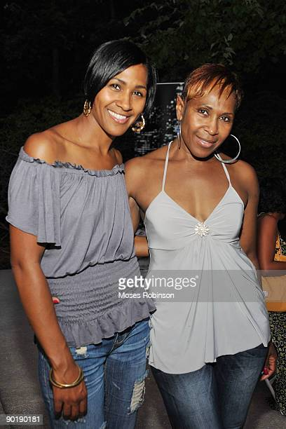 Actress Terri J Vaughn and her mother Helen Vaughn attend Vaughn's birthday party at a Private Residence on August 29 2009 in Atlanta Georgia