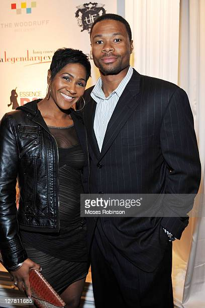 Actress Terri J Vaughn and husband Karon Riley attend The Next Rb Star Launch Party at Woodruff Arts Center on March 20 2011 in Atlanta Georgia