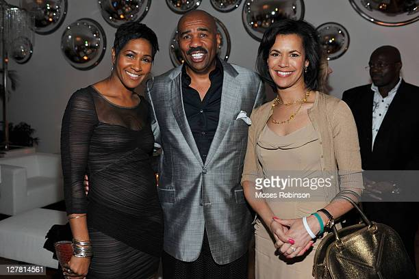 Actress Terri J Vaughn comedian Steve Harvey and CNN Reporter Fredricka Whitfield attend The Next Rb Star Launch Party at Woodruff Arts Center on...