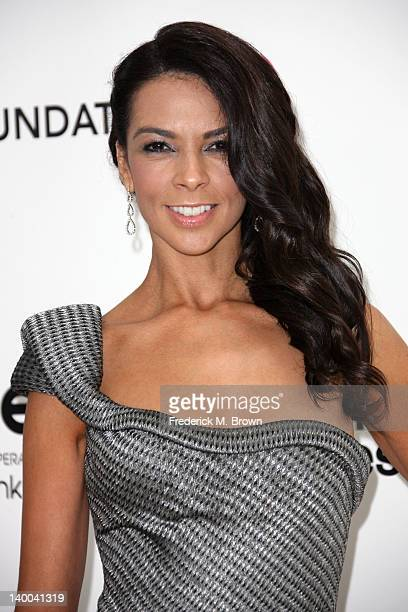 Actress Terri Seymour arrives at the 20th Annual Elton John AIDS Foundation's Oscar Viewing Party held at West Hollywood Park on February 26 2012 in...