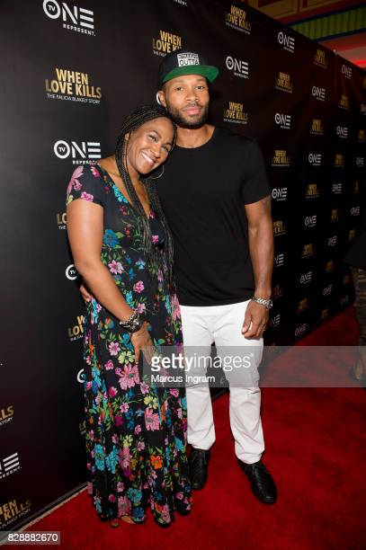 Actress Terri Vaughn and actor Karon Joseph Riley attend the When Love Kills The Falicia Blakely Story movie screening at Regal Atlantic Station on...