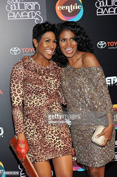 Actress Terri Vaughn and actress Denise Boutte attend the 2010 Soul Train Awards at the Cobb Energy Center on November 10 2010 in Atlanta Georgia