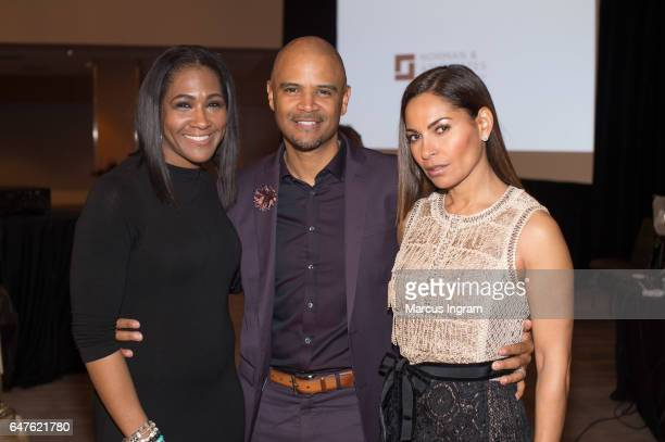 Actress Terri Vaughn Dondre Whitfield and actress Salli Richardson Whitfield on stage during the 2017 Black Women Film Summit 'Untold Stories' awards...