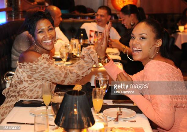 Actress Terri Vaughn Steve Harvey Show and Actress Demetria McKinney House of Payne High 5 at AKOO's 2nd Annual 'A King Of Oneself Brunch' Hosted By...