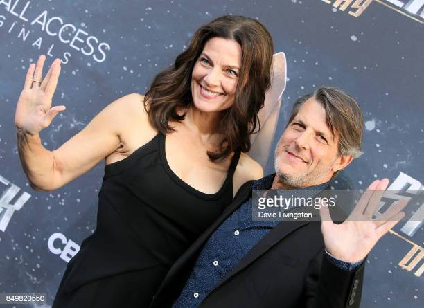 Actress Terry Farrell and director Adam Nimoy attend the premiere of CBS's Star Trek Discovery at The Cinerama Dome on September 19 2017 in Los...