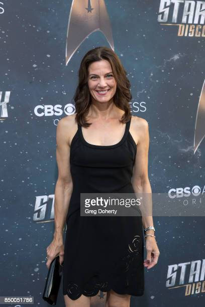 Actress Terry Farrell arrives for the Premiere Of CBS's Star Trek Discovery at The Cinerama Dome on September 19 2017 in Los Angeles California
