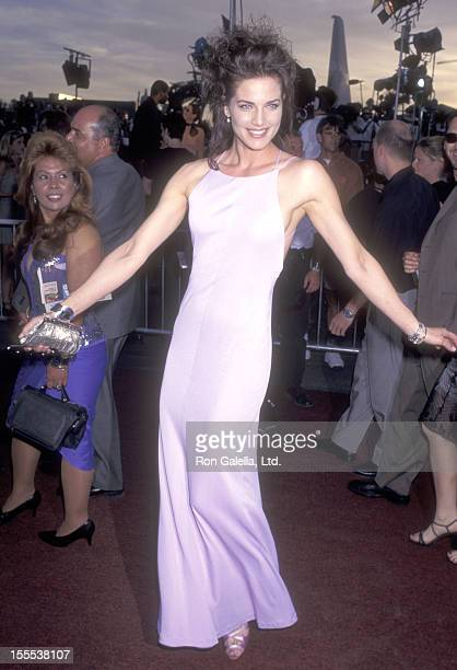 Actress Terry Farrell attends the Con Air Las Vegas Premiere on June 2 1997 at The Hard Rock Hotel and Casino in Las Vegas Nevada