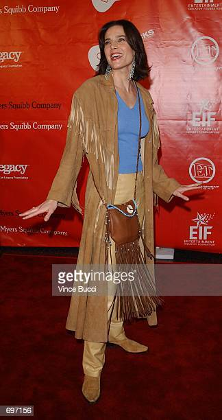 Actress Terry Farrell attends the First Annual Love Rocks Concert February 14, 2002 in Hollywood, CA. The event honored Irish musician Bono and...
