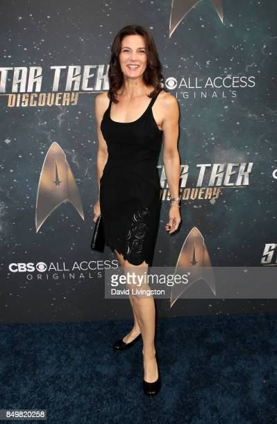 Actress Terry Farrell attends the premiere of CBS's 'Star Trek Discovery' at The Cinerama Dome on September 19 2017 in Los Angeles California