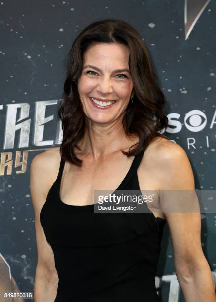 Actress Terry Farrell attends the premiere of CBS's Star Trek Discovery at The Cinerama Dome on September 19 2017 in Los Angeles California