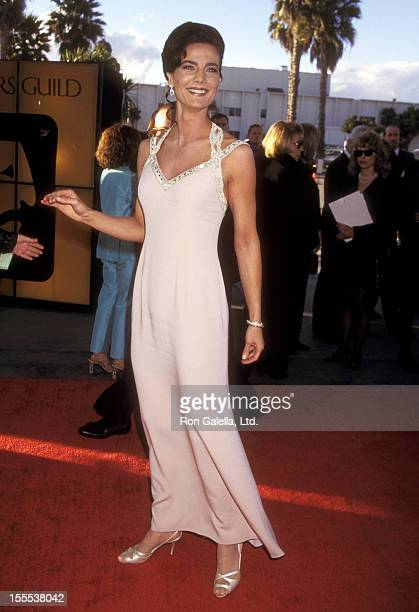 Actress Terry Farrell attends the Second Annual Screen Actors Guild Awards on February 24 1996 at Santa Monica Civic Auditorium in Santa Monica...