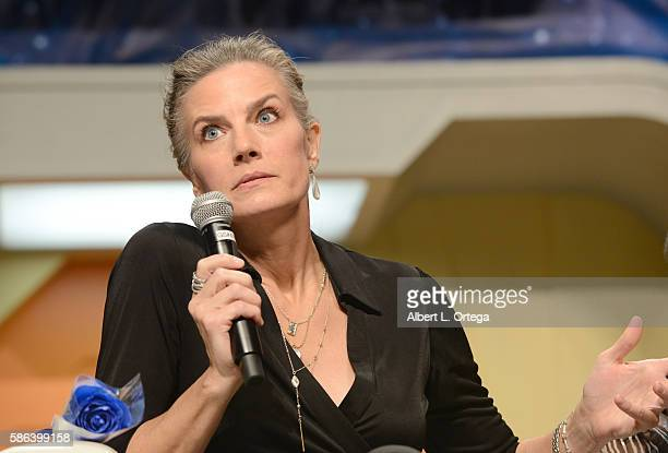 Actress Terry Farrell on day 3 of Creation Entertainment's Official Star Trek 50th Anniversary Convention at the Rio Hotel & Casino on August 5, 2016...