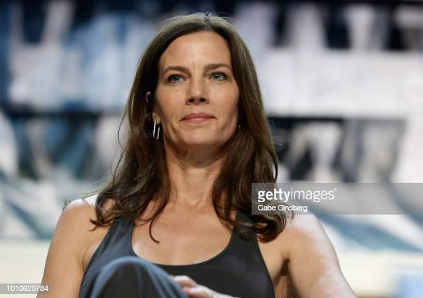 """Actress Terry Farrell speaks at the """"SmithsonianÕs Star Trek : Inspiring Culture & Technology"""" panel during the 17th annual official Star Trek..."""