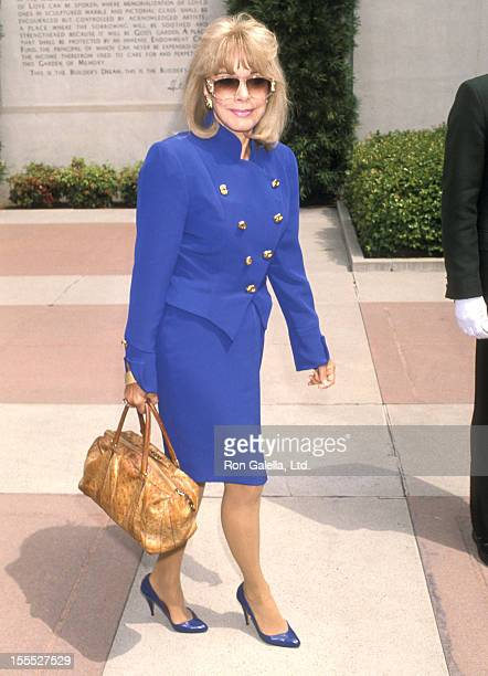 Actress Terry Moore attends Sammy Davis Jr Funeral Service on May 18 1990 at the Forest Lawn Memorial Park in Glendale California