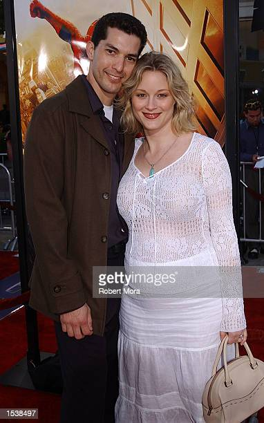 Actress Terry Polo and husband Tony Moore attend the premiere of SpiderMan April 29 2002 in Westwood CA