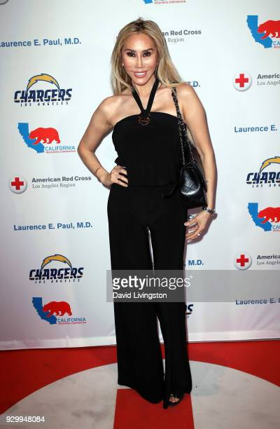 Actress Tess Broussard attends the American Red Cross Annual Humanitarian Celebration to honor the Los Angeles Chargers at Skirball Cultural Center...