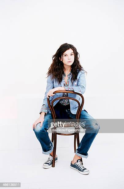 Actress Tess Le Govic is photographed for Madame Figaro on December 1, 2013 in Paris, France. Model/actress Ines de la Fressange designed a capsule...