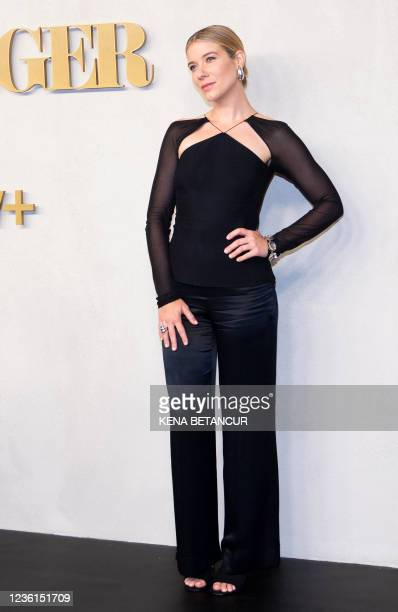 """Actress Tessa Ferrer attends Apple TV+ """"Swagger"""" New York premiere at Brooklyn Academy of Music on October 26, 2021 in New York City."""