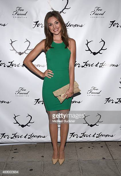 Actress Tessa Harnetiaux attends For Love and Lemons annual SKIVVIES party cohosted by Too Faced and performance by The Shoe at The Carondelet House...
