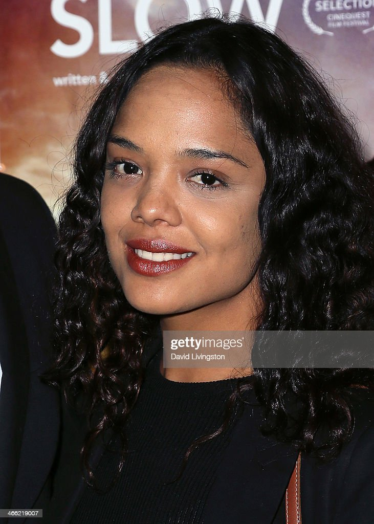 Actress Tessa Thompson attends a screening of Logolite Entertainment & Screen Media Films' 'Somewhere Slow' at Arena Cinema Hollywood on January 31, 2014 in Hollywood, California.