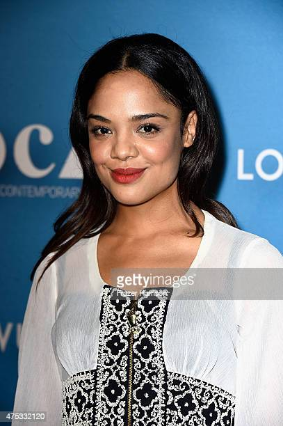 Actress Tessa Thompson attends the 2015 MOCA Gala presented by Louis Vuitton at The Geffen Contemporary at MOCA on May 30 2015 in Los Angeles...