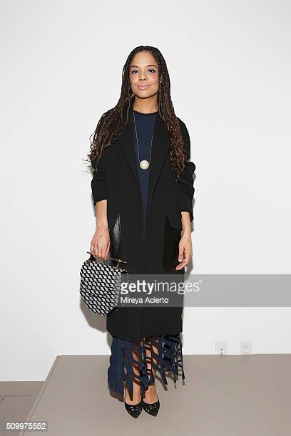 Actress Tessa Thompson attends the Dion Lee fashion show during Fall 2016 MADE Fashion Week at Milk Studios on February 13 2016 in New York City