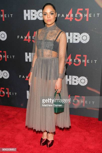 Actress Tessa Thompson attends the Fahrenheit 451 New York Premiere at NYU Skirball Center on May 8 2018 in New York City