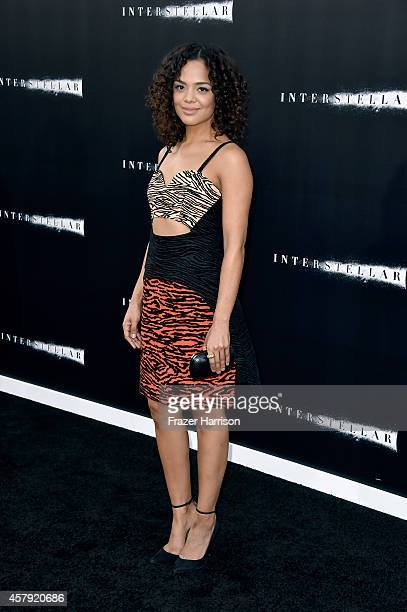 Actress Tessa Thompson attends the premiere of Paramount Pictures' 'Interstellar' at TCL Chinese Theatre IMAX on October 26 2014 in Hollywood...