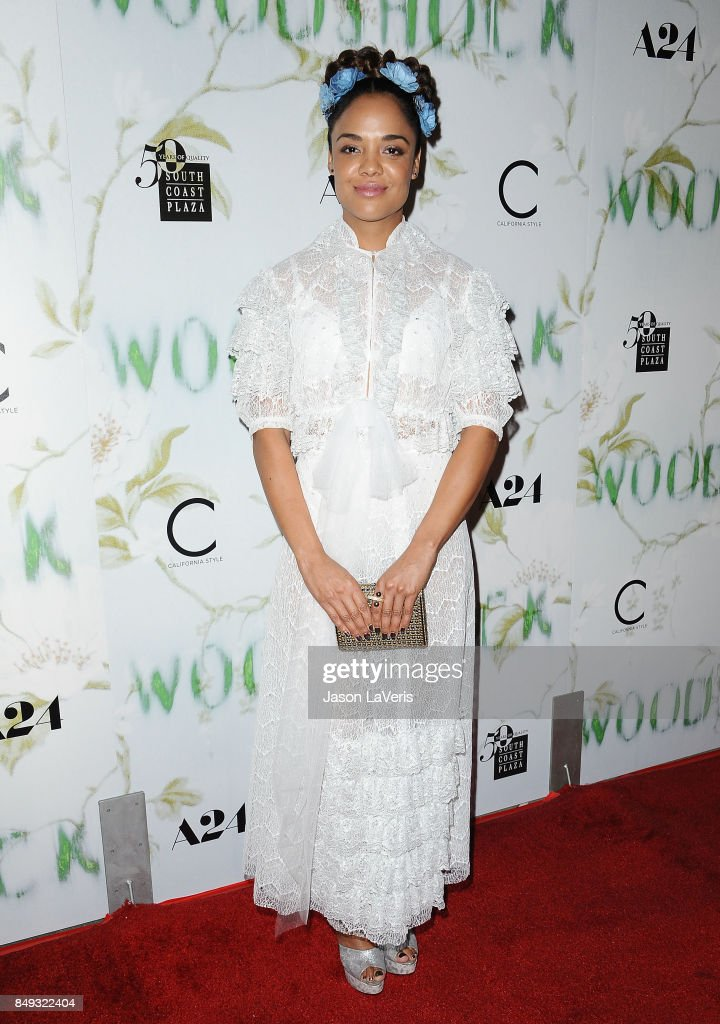 Actress Tessa Thompson attends the premiere of 'Woodshock' at ArcLight Cinemas on September 18, 2017 in Hollywood, California.