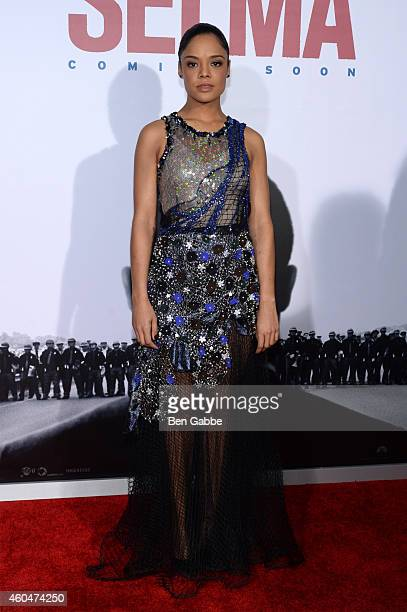 Actress Tessa Thompson attends the 'Selma' New York Premiere at Ziegfeld Theater on December 14 2014 in New York City