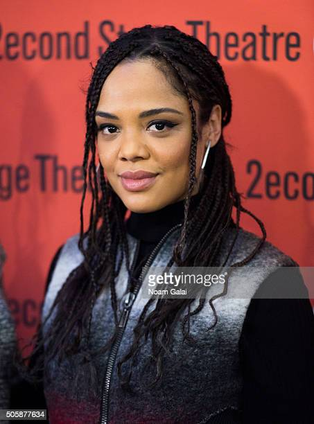 Actress Tessa Thompson attends the 'Smart People' photo call at Second Stage Theatre on January 20 2016 in New York City