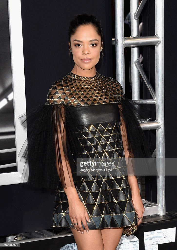 Actress Tessa Thompson attends Warner Bros. Pictures' 'Creed' Premiere at Regency Village Theatre on November 19, 2015 in Westwood, California.