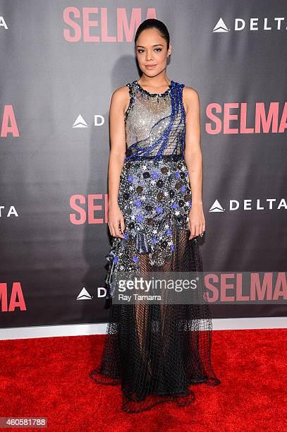 Actress Tessa Thompson enters the 'Selma' New York Premiere at the Ziegfeld Theater on December 14 2014 in New York City