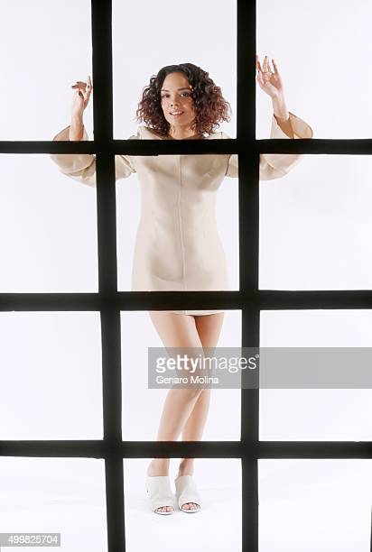 Actress Tessa Thompson is photographed for Los Angeles Times on November 17 2015 in Los Angeles California PUBLISHED IMAGE CREDIT MUST READ Genaro...