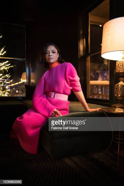 Actress Tessa Thompson is photographed for Self Assignment on January 2018 in Park City Utah