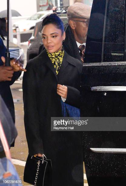 Actress Tessa Thompson is seen at 'Good Morning America' on November 16 2018 in New York City