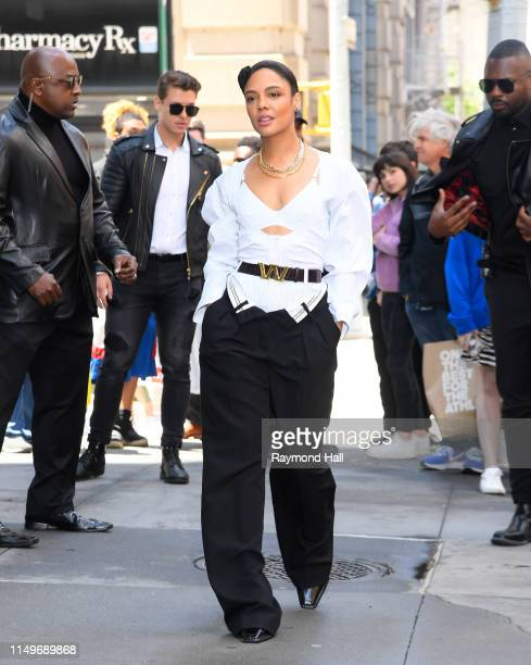 Actress Tessa Thompson is seen outside build studio on June 13, 2019 in New York City.