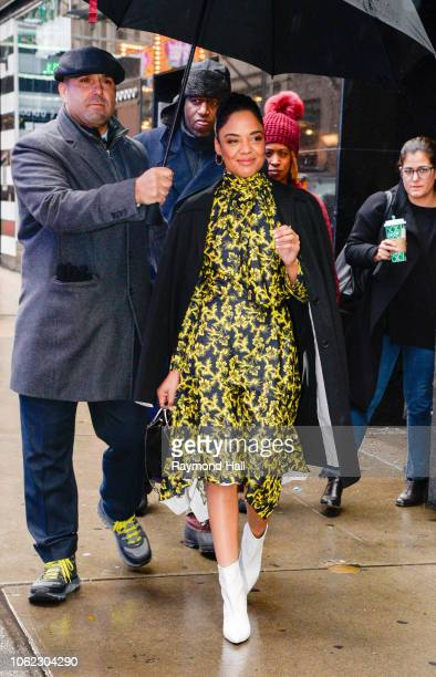 Actress Tessa Thompson is seen outside Good Morning America on November 16 2018 in New York City