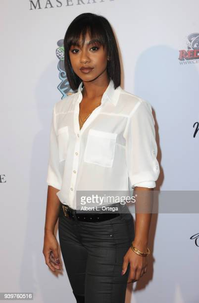 Actress Tetona Jackson arrives at the Amare Magazine Celebration for Their Music And Art Issue held at Riviera 31 on March 28 2018 in Los Angeles...
