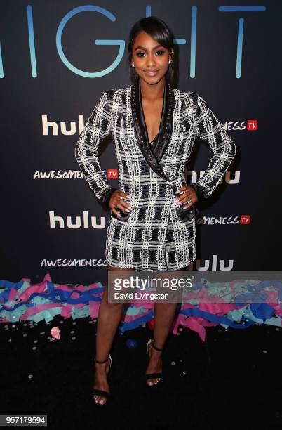 Actress Tetona Jackson attends the premiere of AwesomenessTV's new show All Night at Awesomeness HQ on May 10 2018 in Los Angeles California